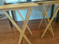 Foldable tray table - set of two