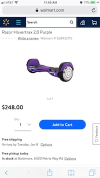 purple and black Razor electric scooter screenshot Gaithersburg, 20879