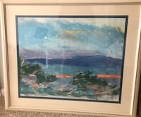 ART WATERCOLOR SEASCAPE FRAMED Herndon, 20171