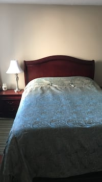 Queen size bed, mattress and 2 night stands Toronto, M5J 1B5