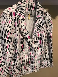 White, black, and pink leopard print cardigan Albuquerque