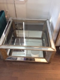 Glass Coffee Table with Mirror