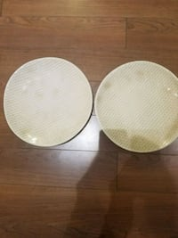 two round white wooden tables Markham, L6G 1C3