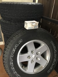 Jeep Wrangler rims and tires good condition  The Acreage, 33411