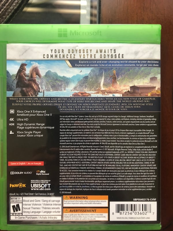 Assassin's creed odyssey Xbox one 2bed5353-d4c1-4d48-aba6-5eea24ac1996