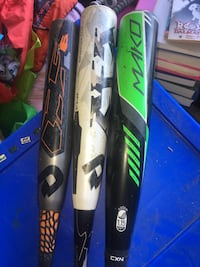 Easton Mako, Demarini CF5 & CF6 all 30 in youth baseball bats 47 km
