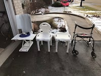 Accessibility/Disability items- bath chair, shower stools, 2 walkers Guelph, N1L 1P2