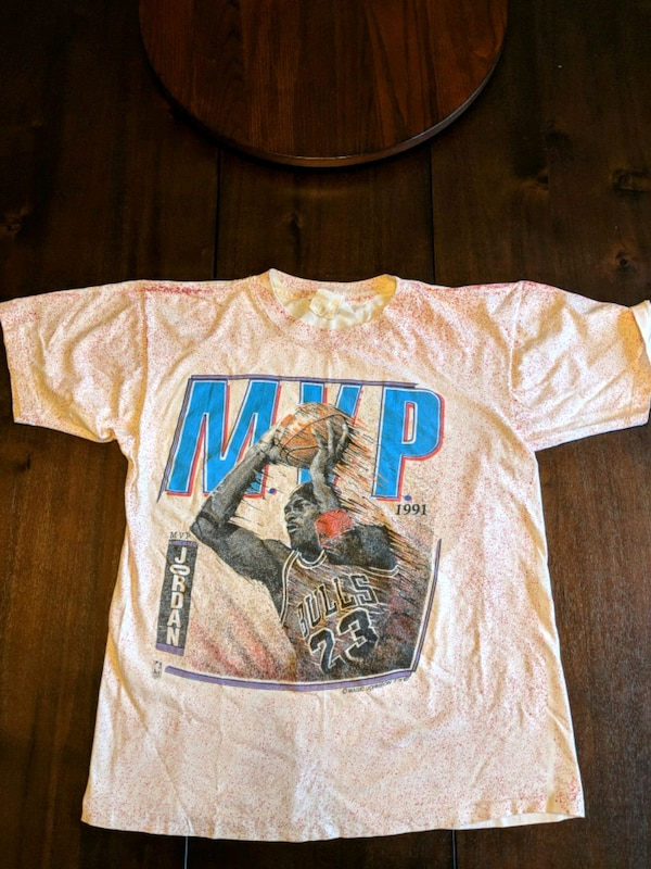 Michael Jordon 1991 MVP T Shirt by Magic Johnson T