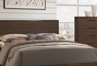 Brand New Queen Bed with Wood Headboard CHICAGO
