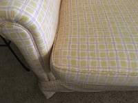 pink and white plaid fabric sofa chair Sandy Spring, 20860