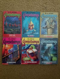 Six Goosebumps books in fair condtition Coon Rapids, 55448