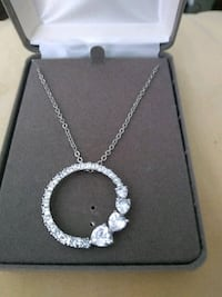 Nolan Miller silver necklace with hearts Brand new Lakeland, 33801