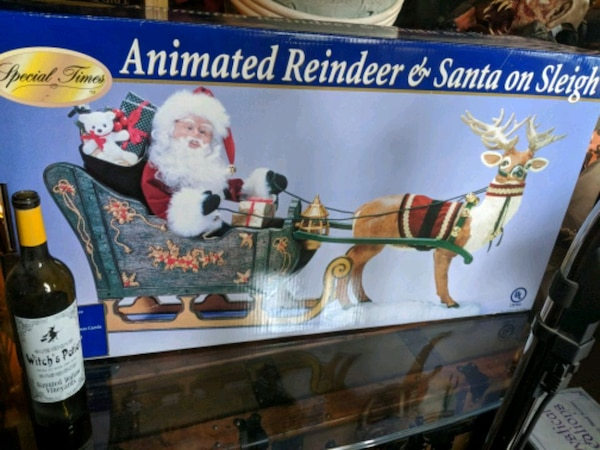 e40dd31e28e Used Santa and reindeer on sleigh..new in box.. for sale in Highland ...