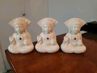 "3 ceramic figurines 8""-6"" Victoria, V9A 6A6"