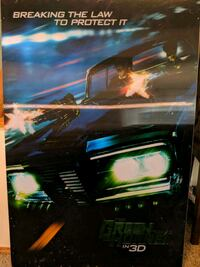 Holographic wall hanging picture 3d Green Hornet Portland, 97224
