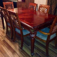 Dark cherry dining room table. comes with leaf to seat 8. price negotiable. Haughton, 71037