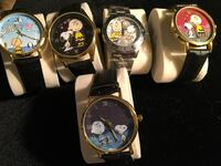 Everyday wear Charlie Brown, Snoopy and the Peanuts gang wrist watches $25 each Glen Burnie, 21061