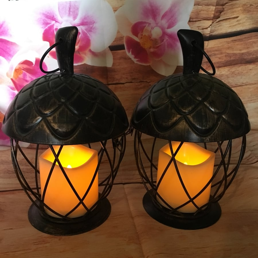Metal Acorn Lanterns-NEW 0