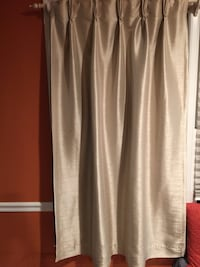 Beige curtains.  Pretty new and bought them for $30 each and I have 4. Springfield, 22151