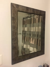 Beautiful Rectangular Mirror in Like New Condition Metallic Gold Brown and Black