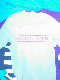 gray Surfing printed crew-neck t-shirt