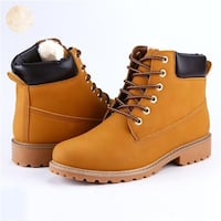 Men's waterproof leather snow boots with fur size 8 to 12us 4 colors  Montréal, H1G 2Z6