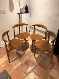 Hans Wegner Heart Chairs  Toronto
