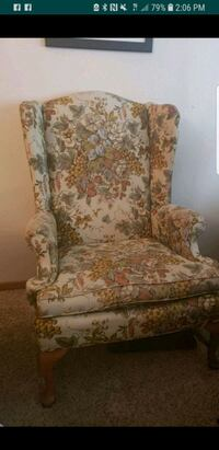 white and brown floral sofa chair Portland, 97227