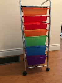 7 tiers organizer cart (with 7 colored trays) Toronto, M1W