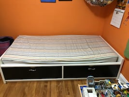 Captain's Bed (twin size bed with drawers for storage underneath)