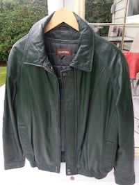 Green Leather Jacket size M