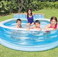 Intex inflatable family pool with bench