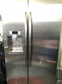 stainless steel side-by-side refrigerator with dispenser Chesapeake, 23322