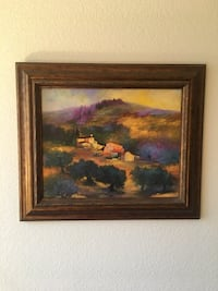 Brown wooden framed painting Gilbert, 85234