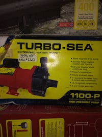 Turbo sea 1100 gph high pressure pump, NEW Fairfax Station