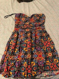 red and blue floral spaghetti strap dress Gaithersburg, 20878