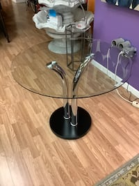 New Chrome & Glass Dining Table