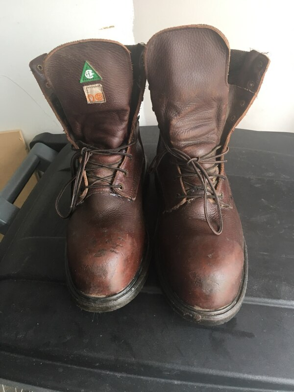 Pair of Red wing leather boots