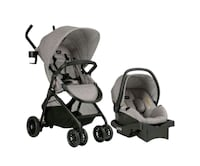baby's gray and black travel system New York