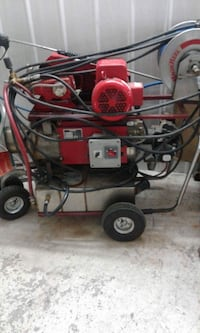 red and grey pressure washer