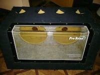 Pro bend box for two 12s ported with Plexiglas  Howell