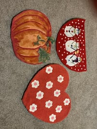3 Seasonal Rugs @$10ea = $30