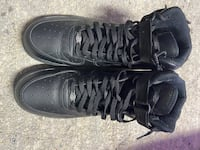 Size 13 black high top airforces