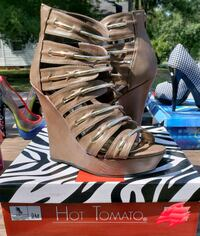pair of gray open-toe strappy heels Rocky Mount, 27801