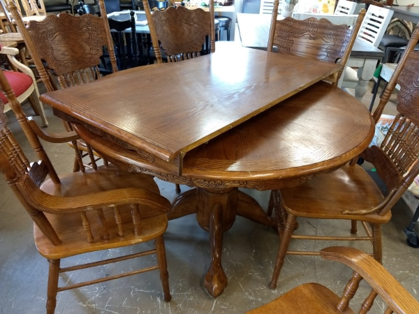 gebrauchte 29263 carved dining table set with 6 six kitchen chairs rh tr letgo com