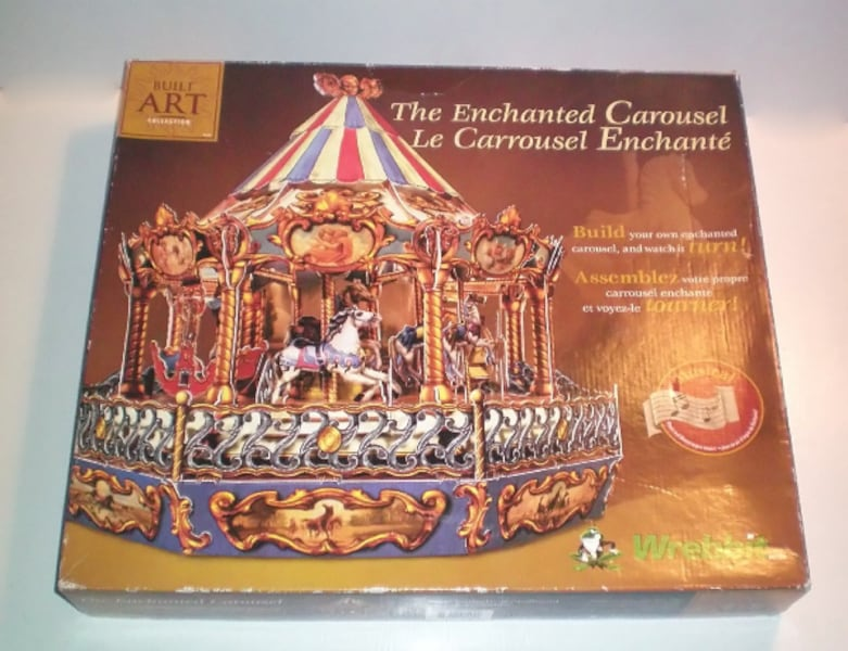Wrebbit Puzzles 3D Musical Carousel the Enchanted Carousel Kit 17319d53-b503-4c1c-8ff7-449bc473acde