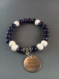 Purple and white lava beaded diffuser bracelet Nashua, 03060