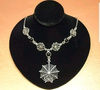 Sterling Silver Spider Web Necklace Portland