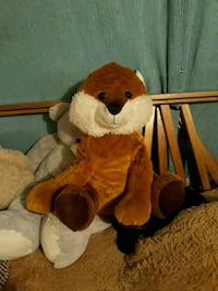 brown and white dog plush toy Cadillac, 49601