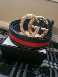 black and red Gucci leather belt San Antonio, 78229
